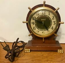 Vintage Maritime/Nautical Ship Wheel Electric Clock United Works Great 1940s?