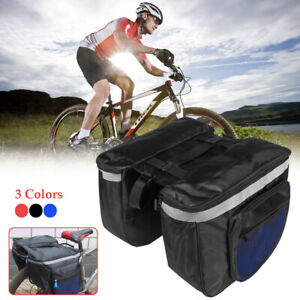20L Bike Bicycle Cycling Rear Seat Double Pannier Saddle Bag Rack Pack   *.* UK