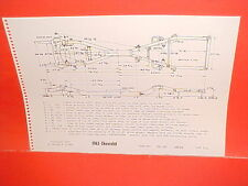 1963 CHEVROLET IMPALA SS CONVERTIBLE COUPE BELAIR BISCAYNE FRAME DIMENSION CHART