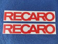 2 x RECARO Aufkleber - 20 x 3,3cm - rot glanz (andere farben auch möglich)