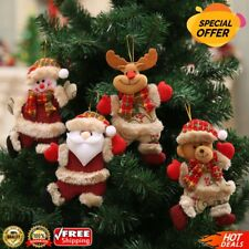 New Christmas Ornaments Santa Claus Tree Pendant Doll Hang Decorations For Home
