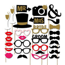 Photo Booth Masks Mustache DIY Props A Stick Birthday Wedding Party 30PCS