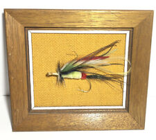 Vintage Large Fly Fishing Framed Fly With 3 Inch Hook