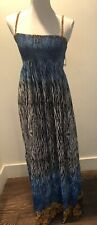 NWT ZEBRA PRINT / BLUE TUBE TOP MAXI DRESS SZ S/M