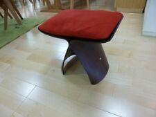 Sori Yanagi Butterfly Stool Tendo Mokko Cushion Red From Japan New