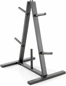 Marcy Standard Weight Plate Tree for 1-Inch Plates for Home Gym 300 lb Capacity