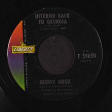 BUDDY KNOX: Thanks A Lot / Hitchike Back To Georgia 45 (dj, xol) Oldies