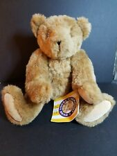 Vermont Teddy Bear Plush Jointed With Tag Attached Light Brown