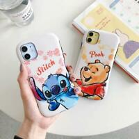 Cartoon Stitch Winnie Pooh Phone Case Cover For iPhone 11 Pro XS Max XR 7 8 Plus