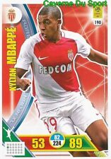 190 KYLIAN MBAPPE AS.MONACO CARTE CARD ADRENALYN LIGUE 1 2018 PANINI
