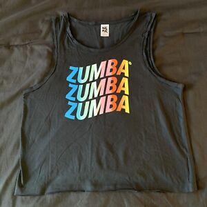 Zumba Dance In Color Tank Top - Bold Black ~ S