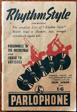 More details for rhythm style (1942 edition) by edgar jackson. parlophone records book 1942