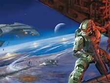 "XBOX ONE 360 PS3 PS4 HALO MASTER CHIEF 13""X19"" POSTER PRINT VIDEO GAME ROOM #008"