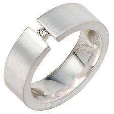 Echte Edelstein-Ringe aus Sterlingsilber mit Diamant für Damen