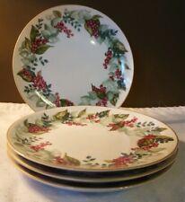 """Restoration Hardware Berry & Leaves 8"""" Plates Appetizer/Dessert/Salad - Set of 4"""