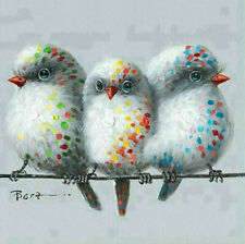 New ListingFull 5D Drill Diamond Mosaic Embroidery Three Birds Kits Art Embroidery Hobby