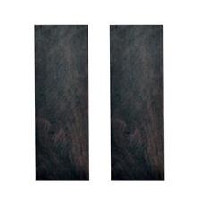 2pcs Sword Knife Handle Ebony Wood Material Scale Slabs DIY Tool 120*40*8mm