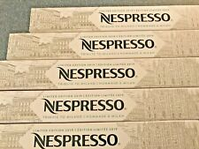 NESPRESSO CAFÉ TRIBUTE TO MILANO   LIMITED EDITION    5 sleeves     50 capsules