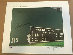 Ted Williams Signed 16x20 Teddy Ballgame Lithograph PSA/DNA #/5000