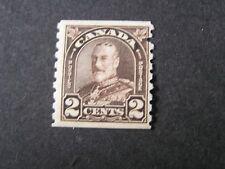 CANADA, SCOTT # 182, 2c. VALUE DARK BROWN COIL STAMPS 1930-31 KGV ISSUE MVLH