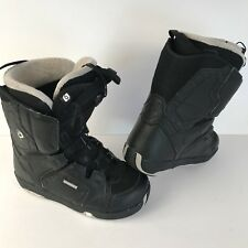 Men's Size 8 Salomon Faction Snowboard Boots Black -FAST SHIPPING-