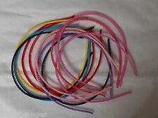 Headbands 4mm Plastic with Teeth Alice bands Head Bands 12 Pack Set