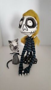 Gothic Rag Doll and Gothic Cat Ooak Pair