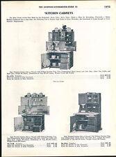 1918 ADVERTISEMENT 3 Pg Hoosier Type Kitchen Cabinets Baking Center Flour Bin