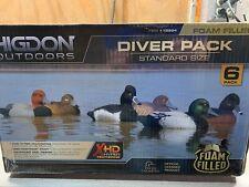New - Higdon Decoys - Standard Diver Pack- Foam-Filled - 6 Pack