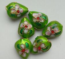 6 dell'era Maji Perline, Verde/Rosa/Verde. a GOCCIA 12 mm gioielli