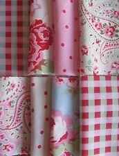 Cath Kidston IKEA 8 * 50cm Square FQ bundle rosali rose paisley rosali check dot