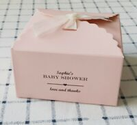 25x Pink Paper Boxes Personalised Favour Boxes Baby Girl Baby Shower Gift Candy