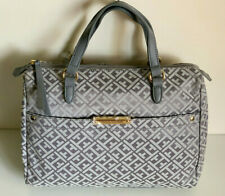 NEW! TOMMY HILFIGER GRAY DOCTOR BOWLER SATCHEL TOTE PURSE HANDBAG $85 SALE