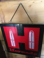 Hornady H  LIGHTED 16x16  Sign new in box-New old stock