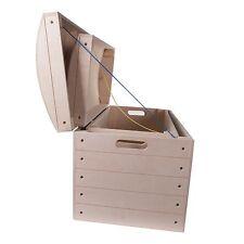 X Grande Pirata Liso De madera Cajas De Pecho/Caja De Juguete de almacenamiento de información tronco de madera sin pintar