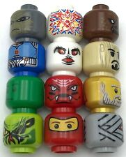 LEGO 12 NEW MINIFIGURE HEADS MUMMY ALIEN NINJA ARMY MONSTER MORE