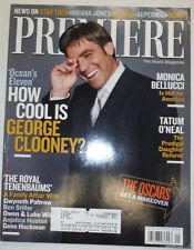 Premiere Magazine George Clooney Monica Bellucci January 2002 031015R