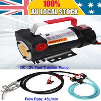 45L/min 12V DC Electric Bowser Oil Transfer Pump Auto Oil Fuel Bio Diesel Fuel
