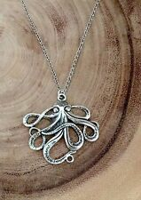 Octopus necklace, Nautical jewelry, ocean jewelry, nature jewelry, pirate