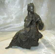 Antique Ansonia metal statue of Queen with scepter