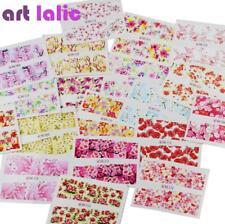 24 Pcs Nail Sticker Flower Water Transfer Decals Foil Rose Peony Sakura Floral