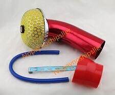 3 Inch Universal JDM Ram High Flow Air Intake Kit Clamp Pipe Piping + Filter