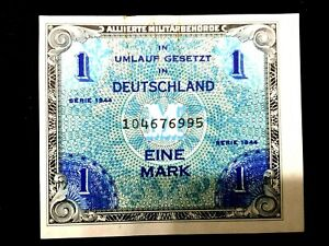 Authentic - Germany 1944 1 Mark Allied Occupation - Uncirculated - Crisp