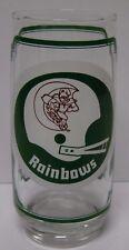 Retro Vtg 1976 HAWAII RAINBOWS NEBRASKA CORNHUSKERS BIG 8 SAMS Football Glass