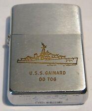 1962  ZIPPO  USS GAINARD  DD 706 US NAVY DESTROYER