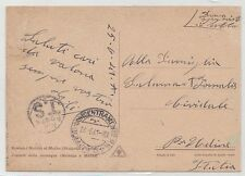 1941 War Greece & Italy in Albania Shqipëria postcard militar post without stamp