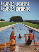 PUBLICITÉ 1985 WHISKY LONG JOHN LONG DRINK - ADVERTISING