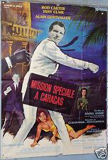VINTAGE MOVIE POSTER XARRIÉ  AFFICHE 1965 FILM MISSION SPECIALE A CARACAS