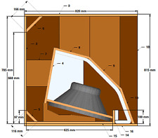 18 SOUND 18LW2400 LOADED HORN CABINET SPEAKER PLAN 1200 Watts