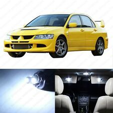 7 x White LED Interior Lights Package For 2003 - 2006 Lancer Evolution Evo 8 9